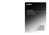 To view the document Yamaha CD-S300 User Manual