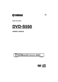 To view the document Yamaha DVD-S550 User Manual