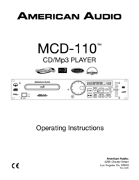 To view the document American-audio MCD-110 User Manual
