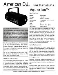 To view the document American-dj Aquarius User Manual