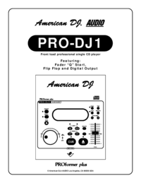 To view the document American-dj PRO-DJ1 User Manual