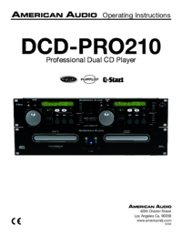 To view the document American-audio DCD-PRO210 User Manual