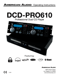 To view the document American-audio DCD-PRO610 User Manual