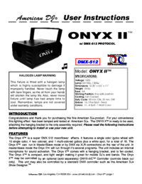 To view the document American-dj Onyx II User Manual