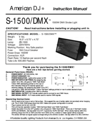 To view the document American-dj S-1500/DMX User Manual