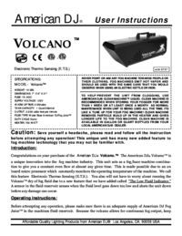 To view the document American-dj Volcano User Manual