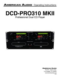 To view the document American-audio DCD-PRO310 MKII User Manual