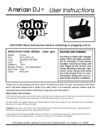 To view the document American-dj Color Gem User Manual