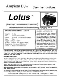 To view the document American-dj Lotus User Manual