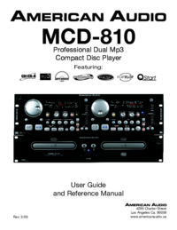 To view the document American-audio MCD-810 User Manual