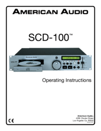 To view the document American-audio SCD-100 User Manual
