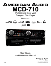 To view the document American-audio MCD-710 User Manual