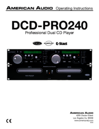 To view the document American-audio DCD-PRO240 User Manual