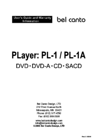 To view the document Bel-canto-design PL-1 User Manual