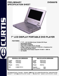 To view the document Curtis Dvd8007b User Manual