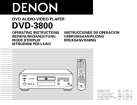 To view the document Denon DVD-3800 User Manual