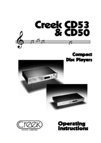 To view the document Creek-audio CD50 User Manual