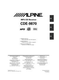 To view the document Alpine CDE-9870 User Manual