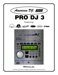 To view the document American-audio PRO DJ 3 User Manual