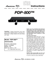 To view the document American-dj PDP-800 User Manual