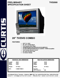To view the document Curtis TVD2000 User Manual