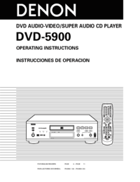 To view the document Denon DVD-5900 User Manual