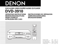 To view the document Denon DVD-3910 User Manual