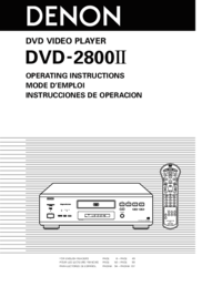 To view the document Denon DVD-2800II User Manual