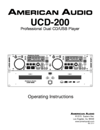 To view the document American-audio UCD-200 User Manual