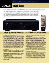 To view the document Denon DVD-9000 User Manual