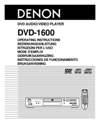 To view the document Denon DVD-1600 User Manual