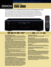 To view the document Denon PUREPROGRESSIVE DVD-3800 User Manual