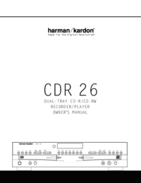 To view the document Harman-kardon CDR 26 User Manual