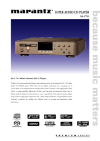 To view the document Marantz SA-17S1 User Manual