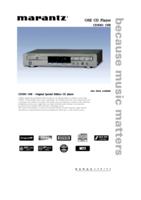 To view the document Marantz CD5001OSE User Manual