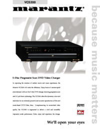 To view the document Marantz VC5200 User Manual