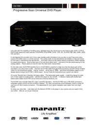 To view the document Marantz DV7001 User Manual