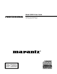 To view the document Marantz CDR510 User Manual