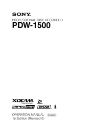 To view the document Sony XDCAM PDW-1500 User Manual