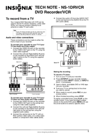 To view the document Insignia NS-1DRVCR User Manual