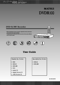 To view the document Matsui-america DVDR100 User Manual