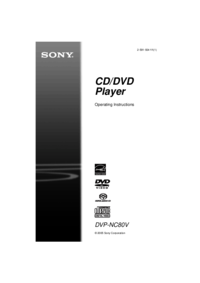To view the document Sony DVP-NC80V User Manual
