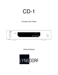 To view the document Lyngdorf-audio CD-1 User Manual