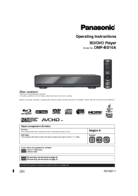 To view the document Panasonic DMP-BD10A User Manual