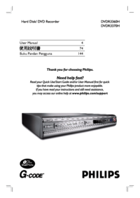 To view the document Philips DVDR3360H User Manual