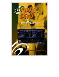 To view the document Pyle-audio PDCD770 User Manual