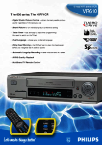 To view the document Philips VR610 User Manual