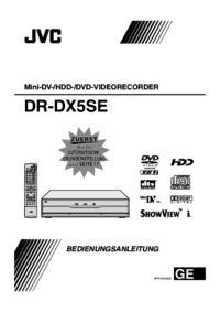 To view the document Jvc DR-DX5SE User Manual