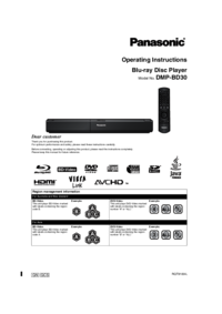 To view the document Panasonic DMP-BD30 User Manual